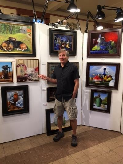 Barney Levitt at the JP Open Studios