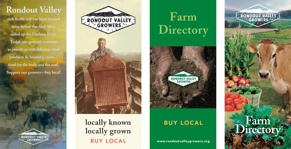Covers of farm directories from 2002–2013.