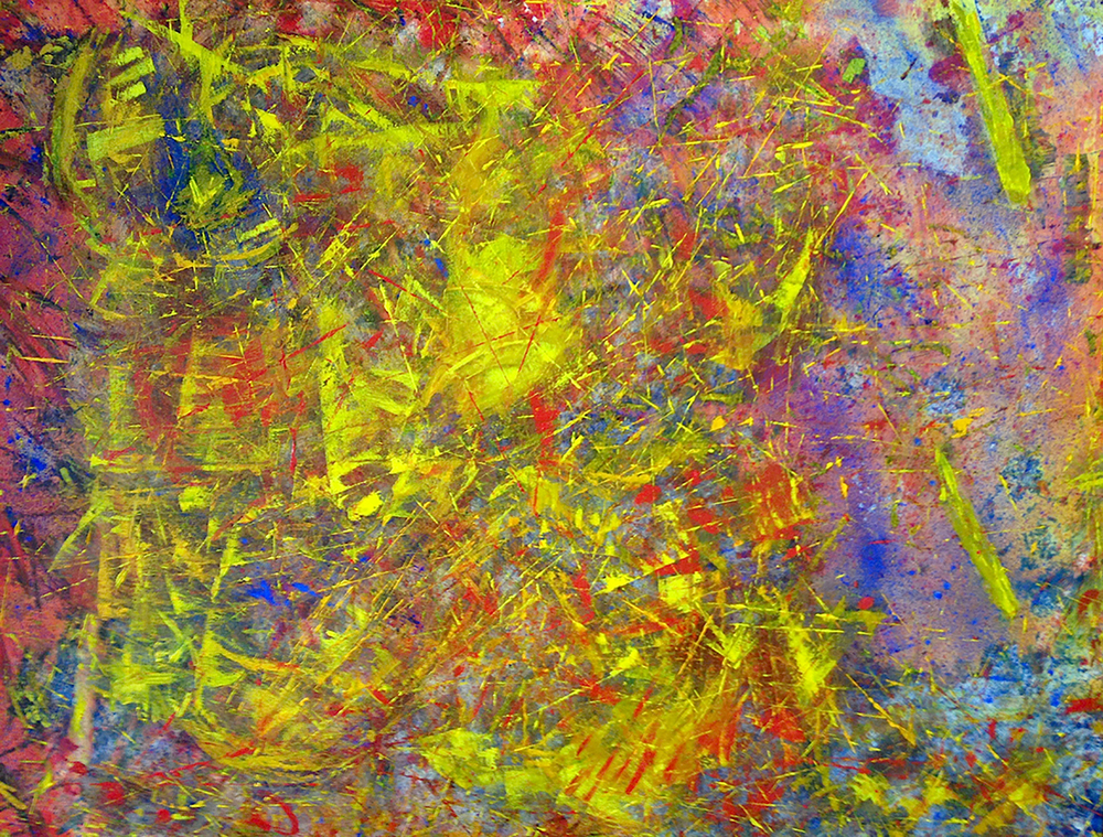 Flying Colours, 2015. Oil, acrylic and pigments on canvas, 36 x 48 in / 91.4 x 121.9 cm