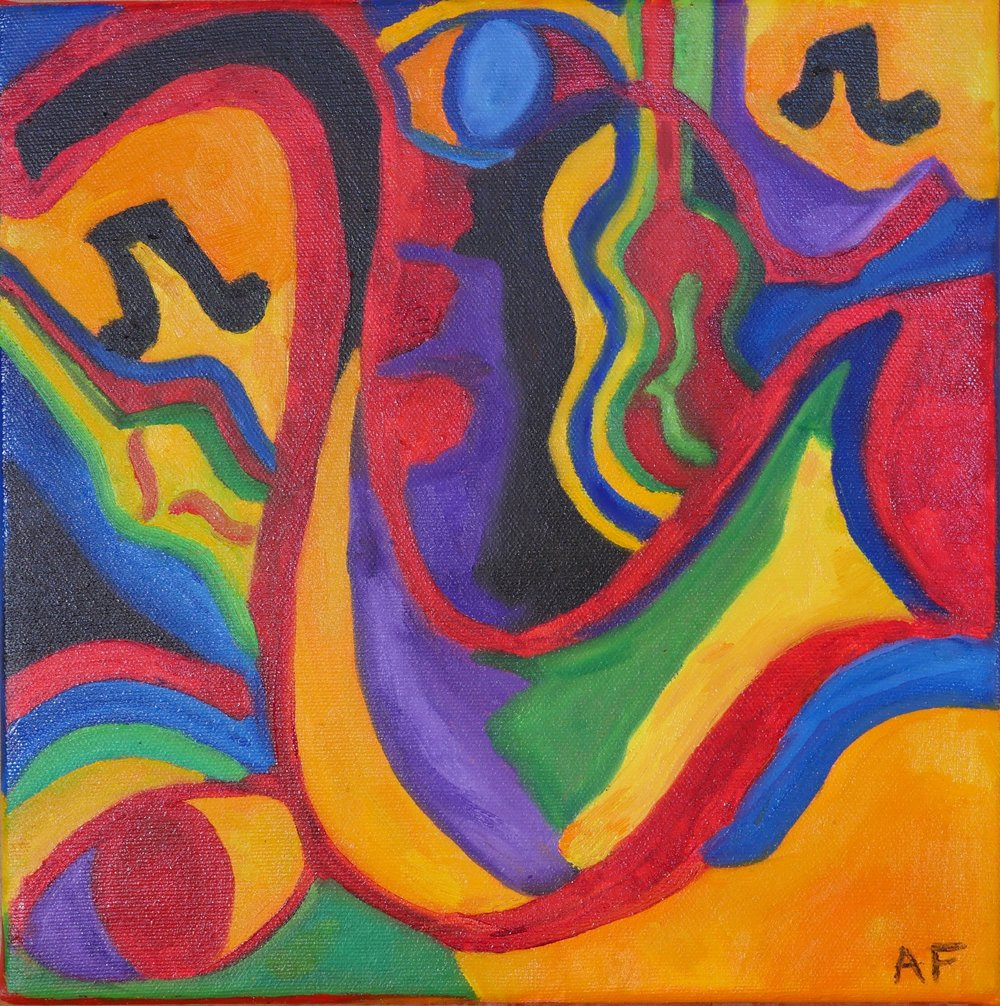 Cuban Melody II, 2016. Oil on canvas, 10 x 10 in / 25 x 25 cm