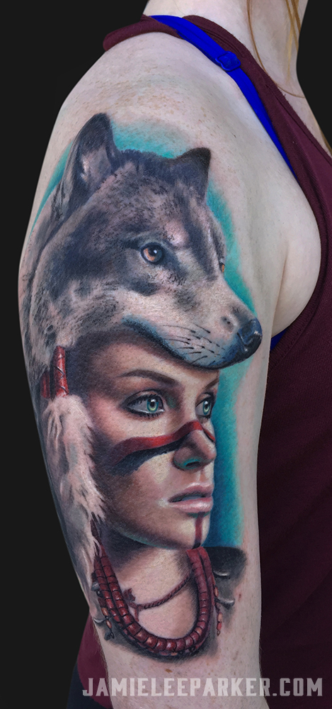 Wolf Skin Warrior Girl