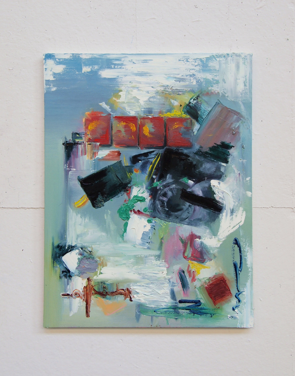 Abstract from life observation,oil painting