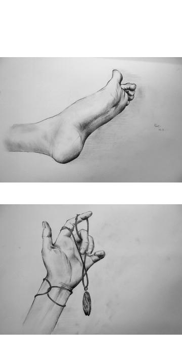 hand, foot drawing