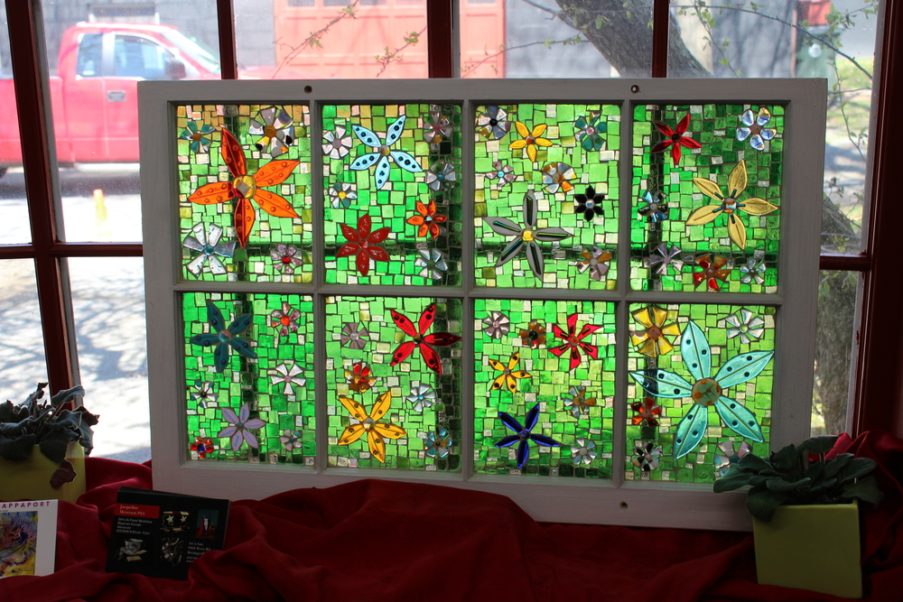 Window panel. Glass on Glass mosaic.