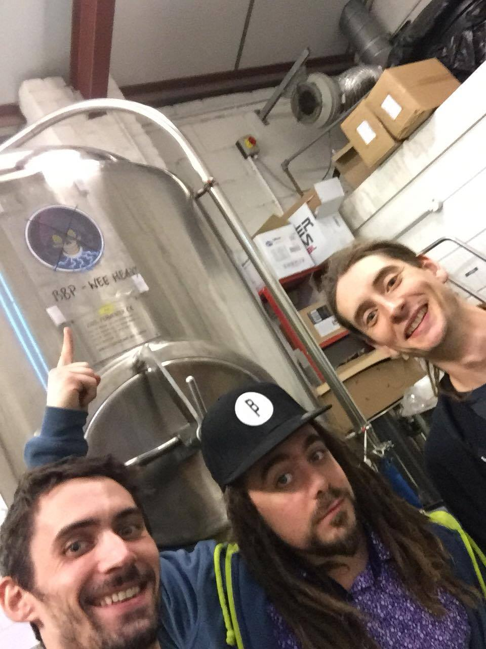 Brewers (left-right): Ryan, Yves and Kit