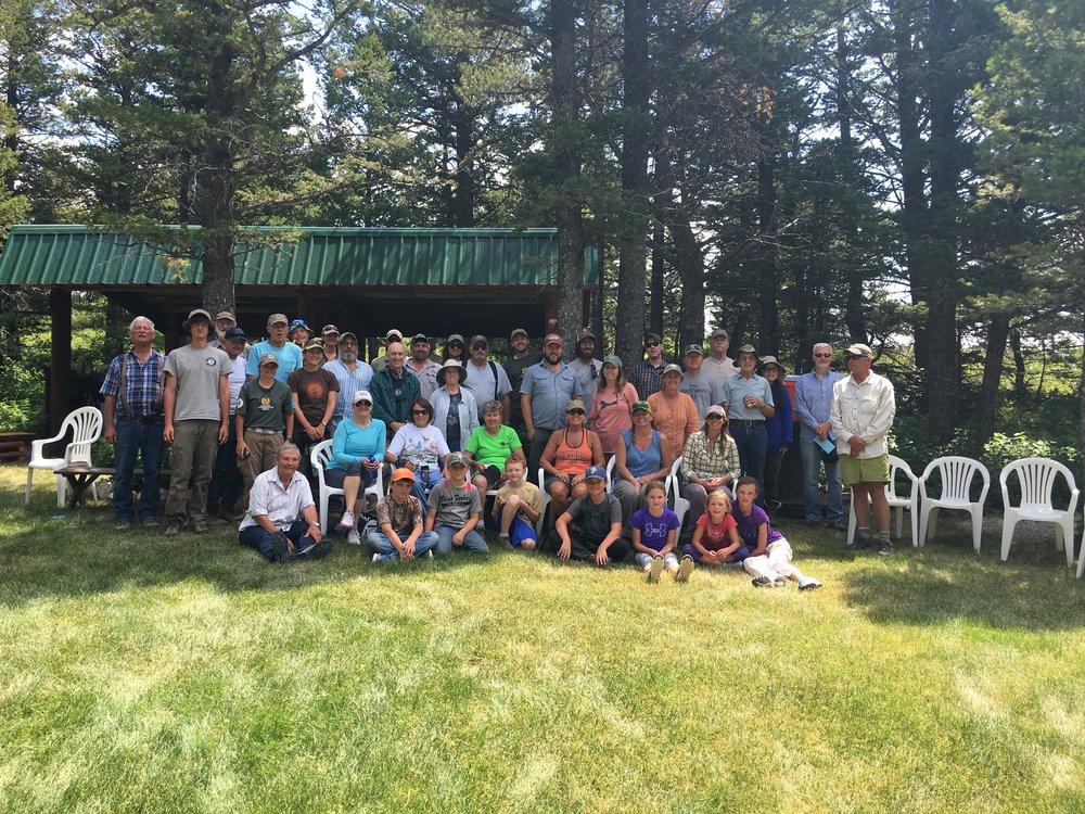 2017 Teton Weed Pull crew