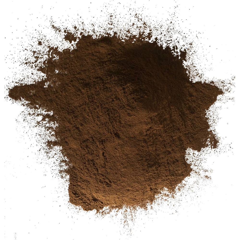 "Dark Roast Maya Powder has a rich, espresso-like flavor. Delicious in chocolate baked goods or as a caffeine-free instant  ""coffee"" beverage"