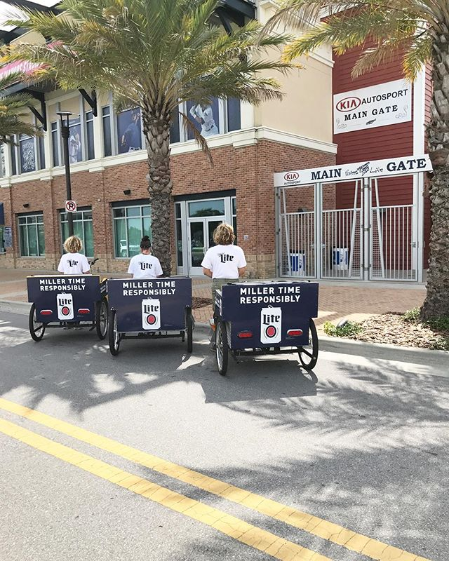 🍺🍺🍺 You should go grab a @millerlite then catch a pedicab! #pensacola #upsideofflorida #millerlite #pensacolamarketing #gulfcoast