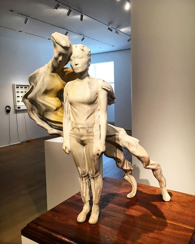 "Rosalie Yu's ""Embrace in Progress : Ran"" 3d printed sculpture is on view at BUNKER till August 10th."