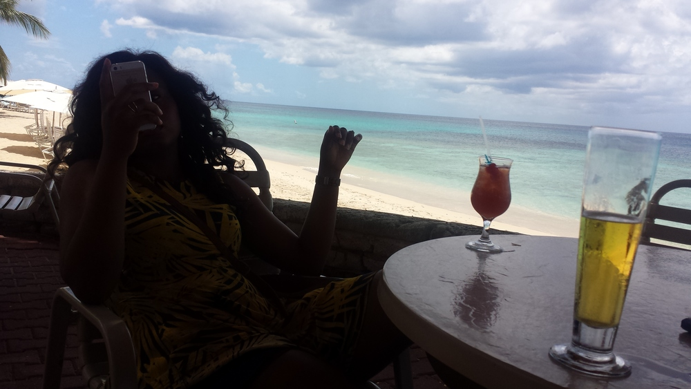 On a bar break, during the 'along-the-beach-shore-walk' I talked about above. I warned you about the Rum Punch didn't I