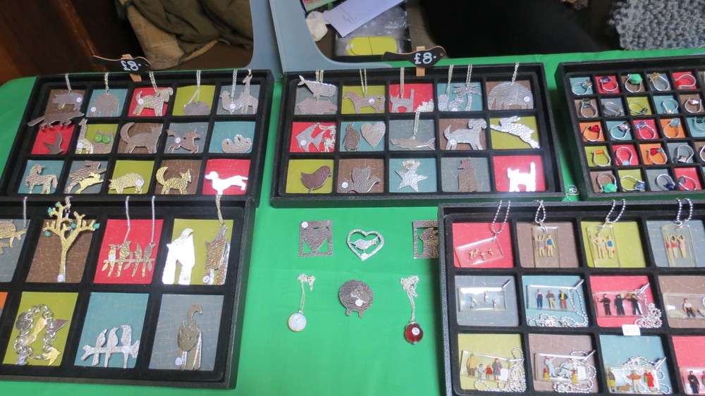This seemed cool - Jewellery made from recycled aluminium on sale at the market.