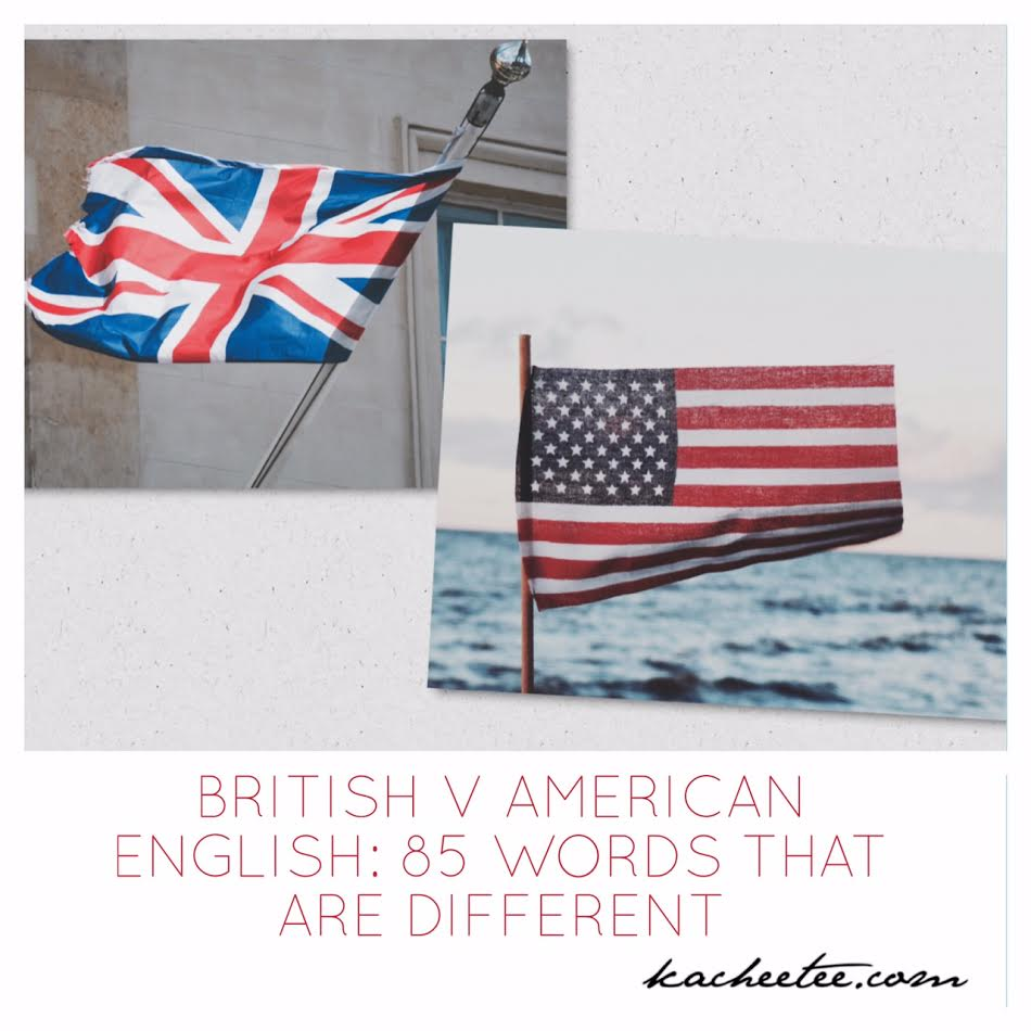 british and american words different