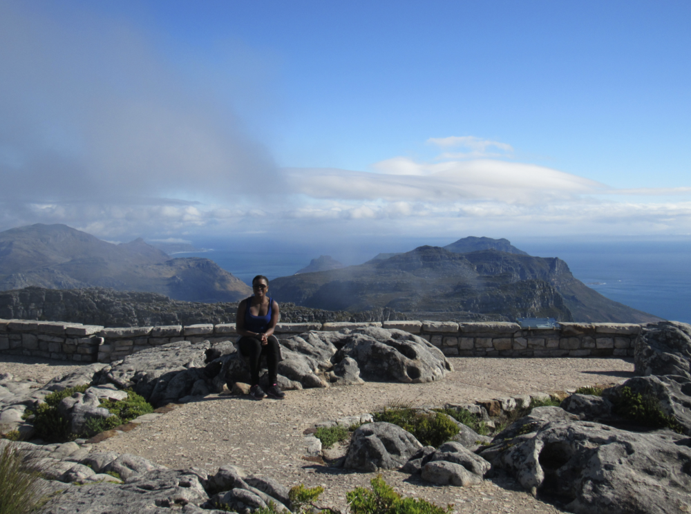 After a 5.5 hours hike at Table Mountain. CapeTown, South Africa.