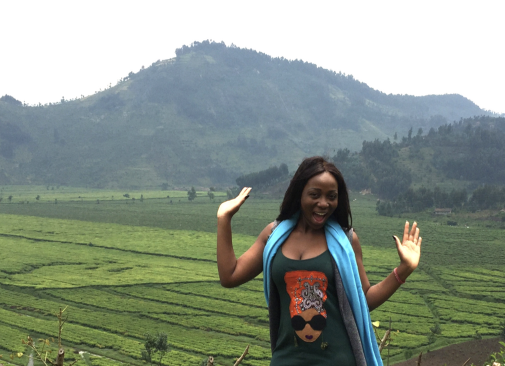 Too Pretty! In Gisenyi, Rwanda - the land of 1,000 Hills.