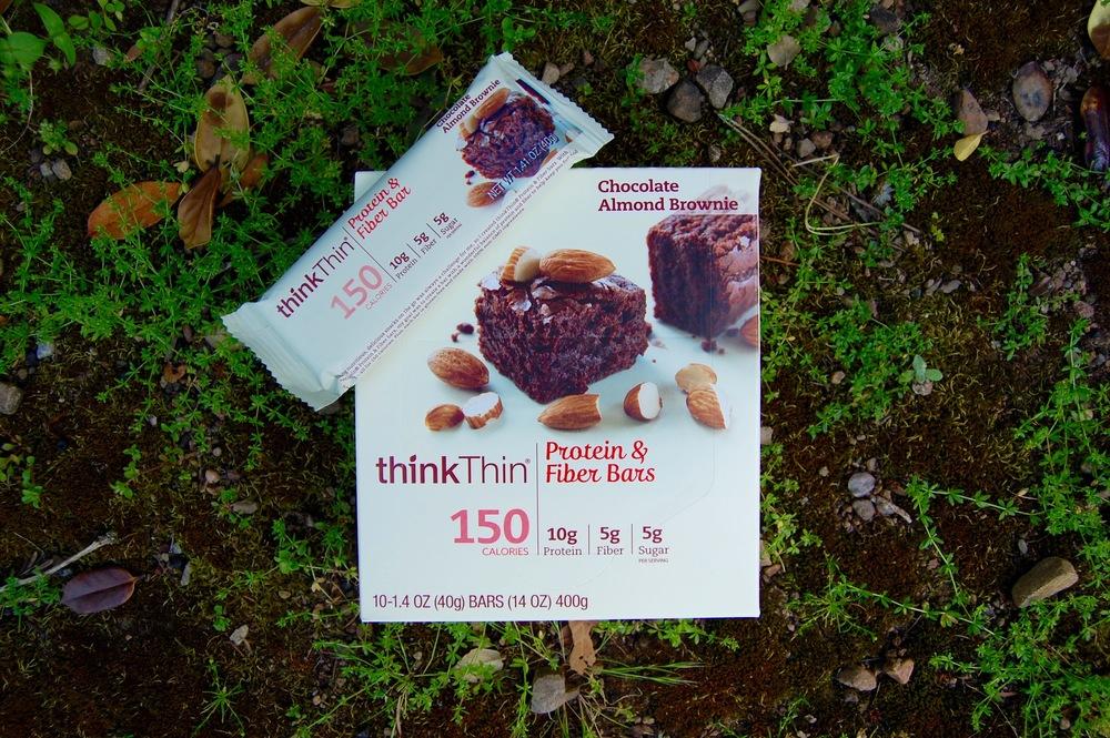 thinkThin Protein & Fiber Bars, Chocolate Almond Brownie