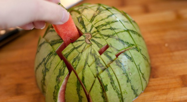 Watermelon Spears, Watermelon Swords, How to cut a watermelon