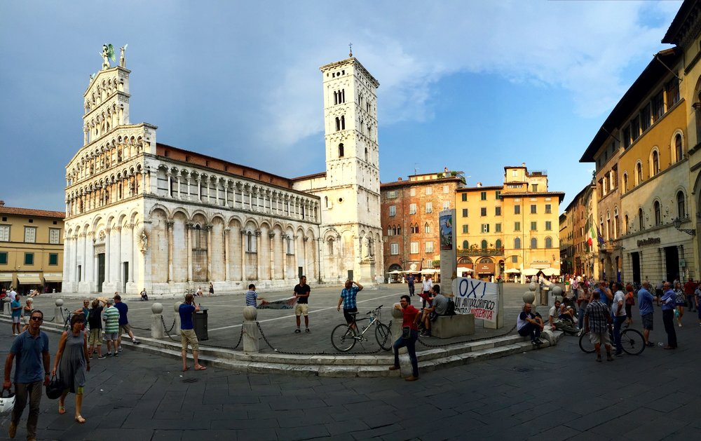 Piazza San Michele in Lucca, Italy