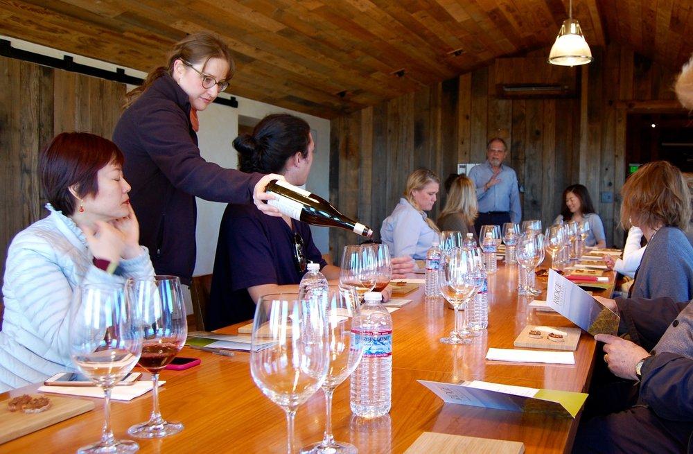 Ridge Vineyards Estate Tasting with Paul Draper.