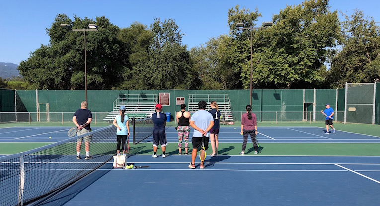 Tennis Class at  West Valley College.