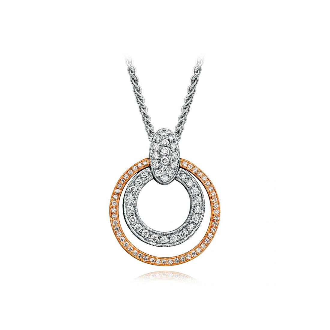 Simon g two tone double circle pendant beifeld jewelers simon g two tone double circle pendant aloadofball Image collections