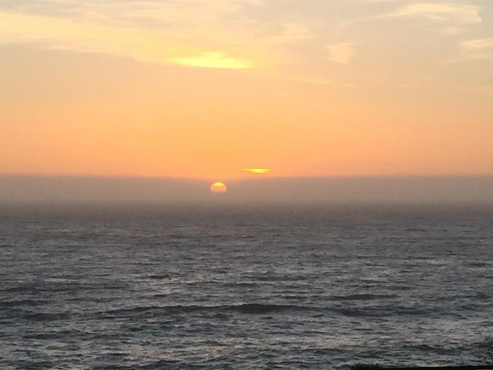 Sun setting in Carmel By The Sea