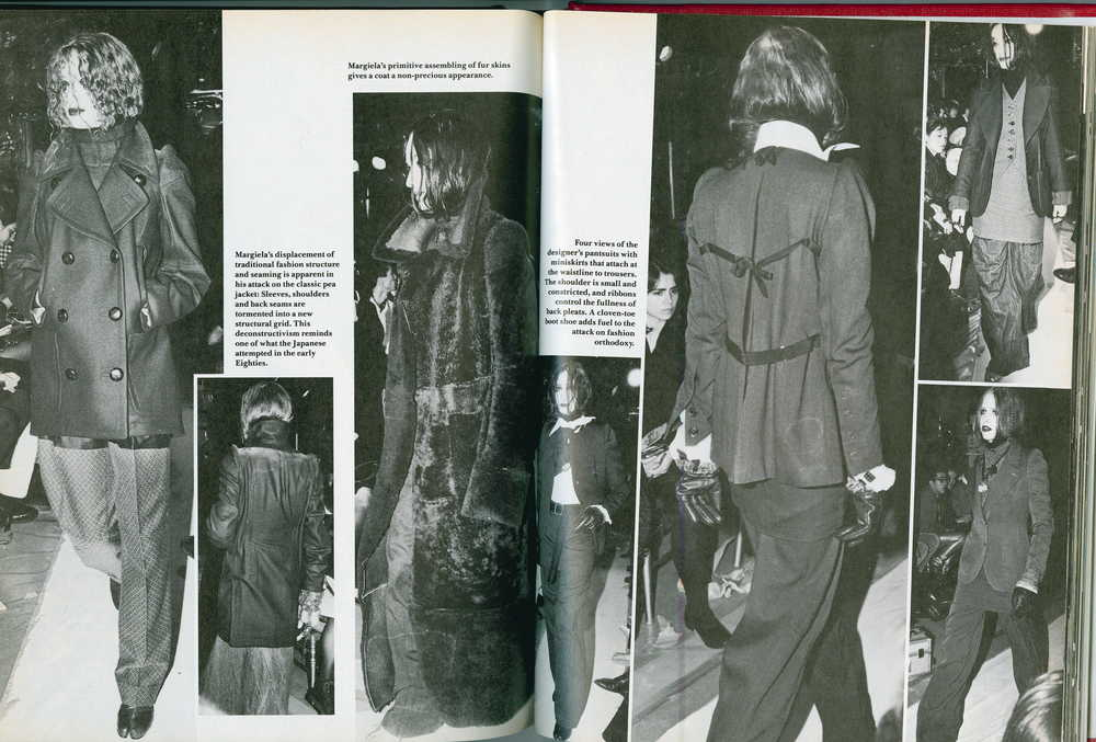 BILL CUNNINGHAM, IMAGES AND TEXT ON MARTIN MARGIELA, AUTUMN/WINTER 1989,  DETAILS,  SEPTEMBER 1989