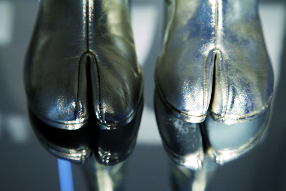 "Tabi Boots, ""Maison Martin Margiela: 20 years,"" 2008 MoMu Antwerp. Photograph by Ronald Stoops"