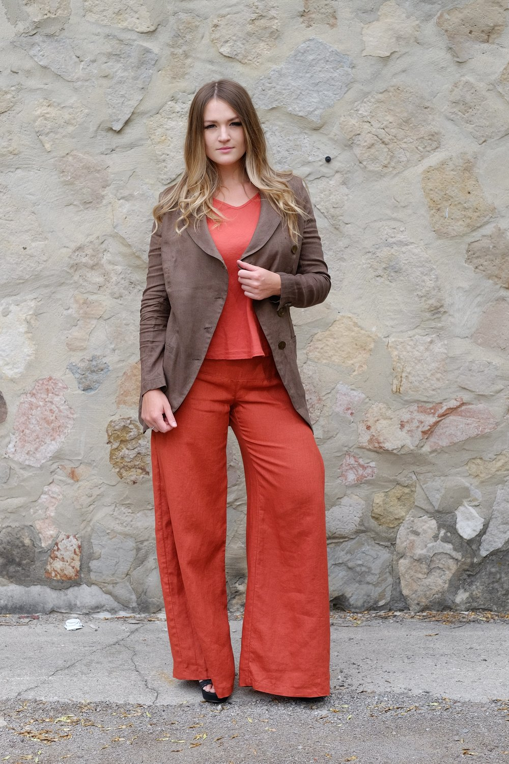 Asymmetrical Jacket and Retro Pant