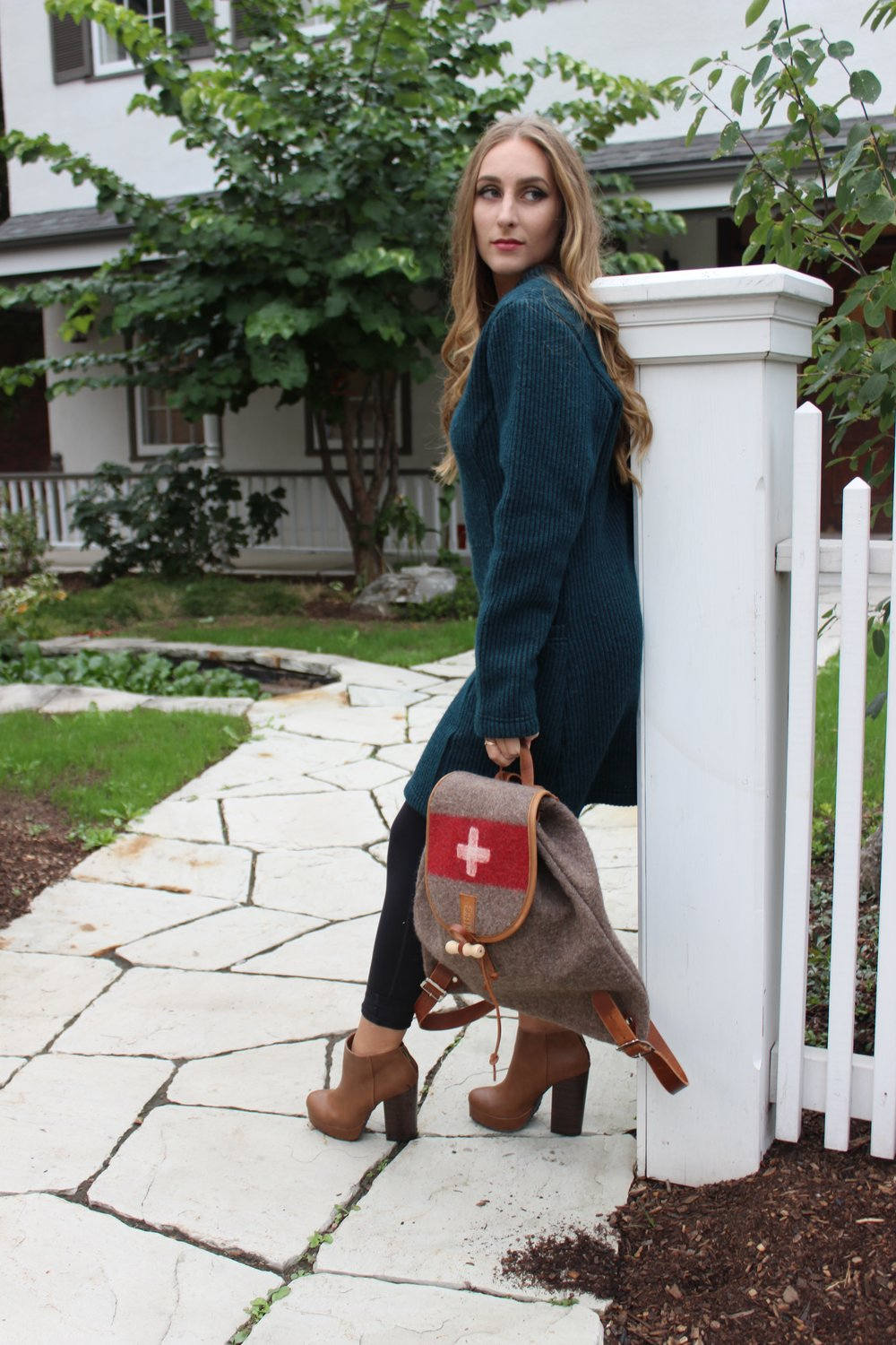 Knit Tunic and Swiss Army Bag