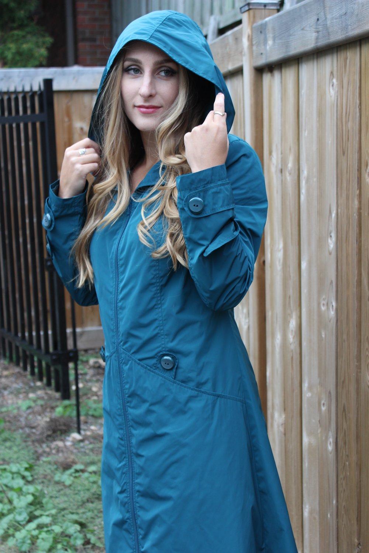 Turquoise Trench Coat