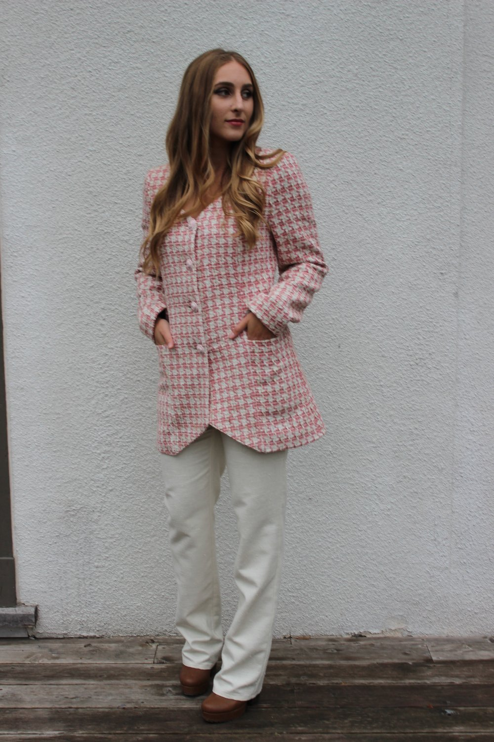 Collar Jacket and Skinny Pant