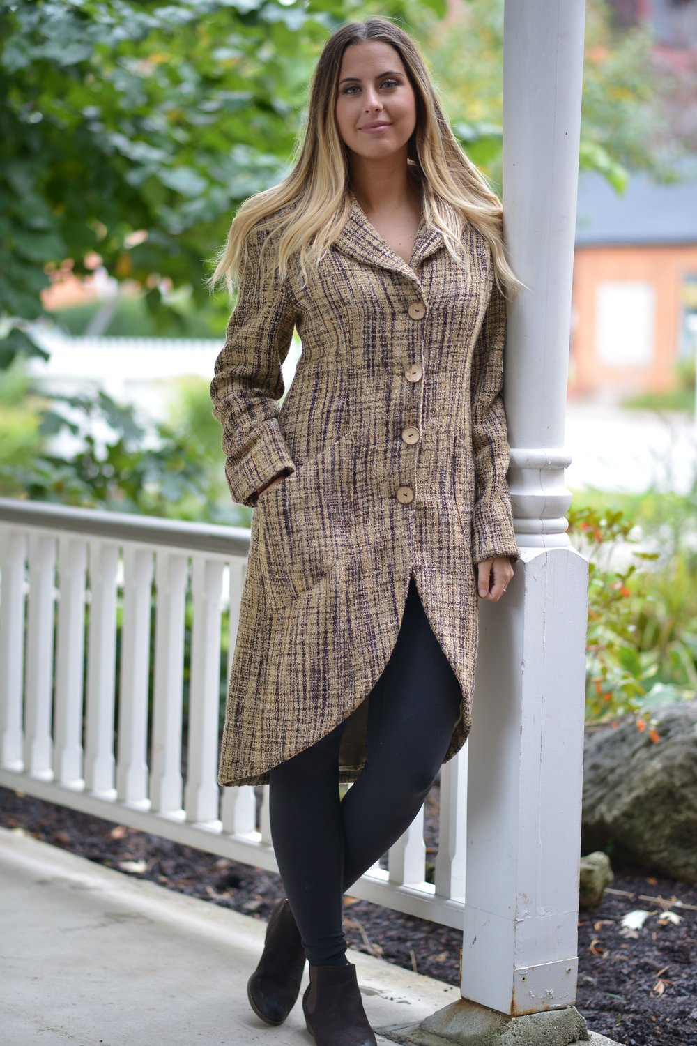 Taupe Pattern Opera Coat
