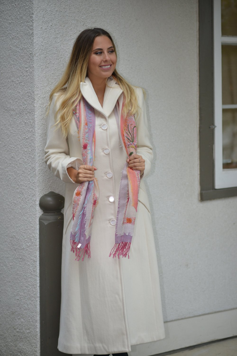 Cream Urban Long Coat