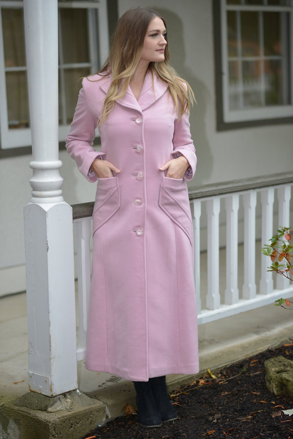 Pink Urban Long Coat