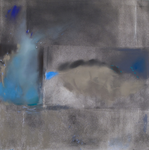 Edge,  Pastel on paper  (25 x 25)  $1,800 (Framed) Meredith Rosier