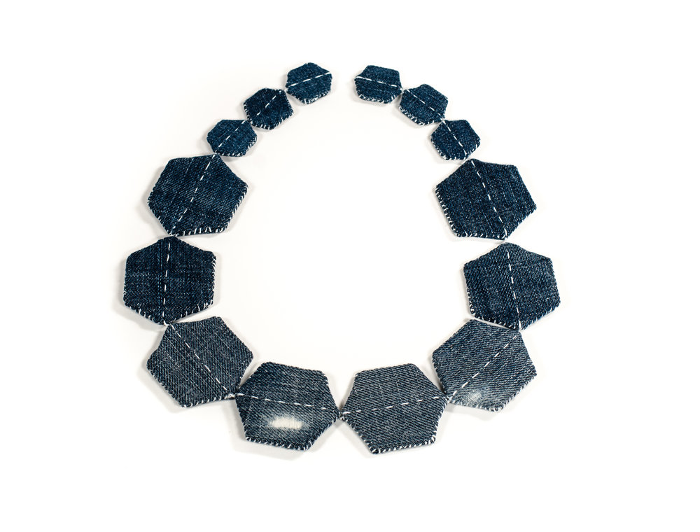 Patched necklace now available at Heidi Lowe Gallery