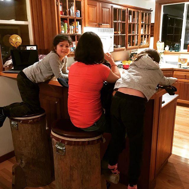 Love the Haida Gwaii barstools. #littlegirlslaughter #rusticdesign #naturalfunction
