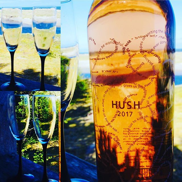 It's a beautiful day when you uncork rose! Dirty Laundry Winery's Hush Rose is featured at Highwater House with Haida Wild Seafoods this week for wine Wednesday! #winewednesday #rosemademyday #beautifulwine #fishand wineisalwaysfine