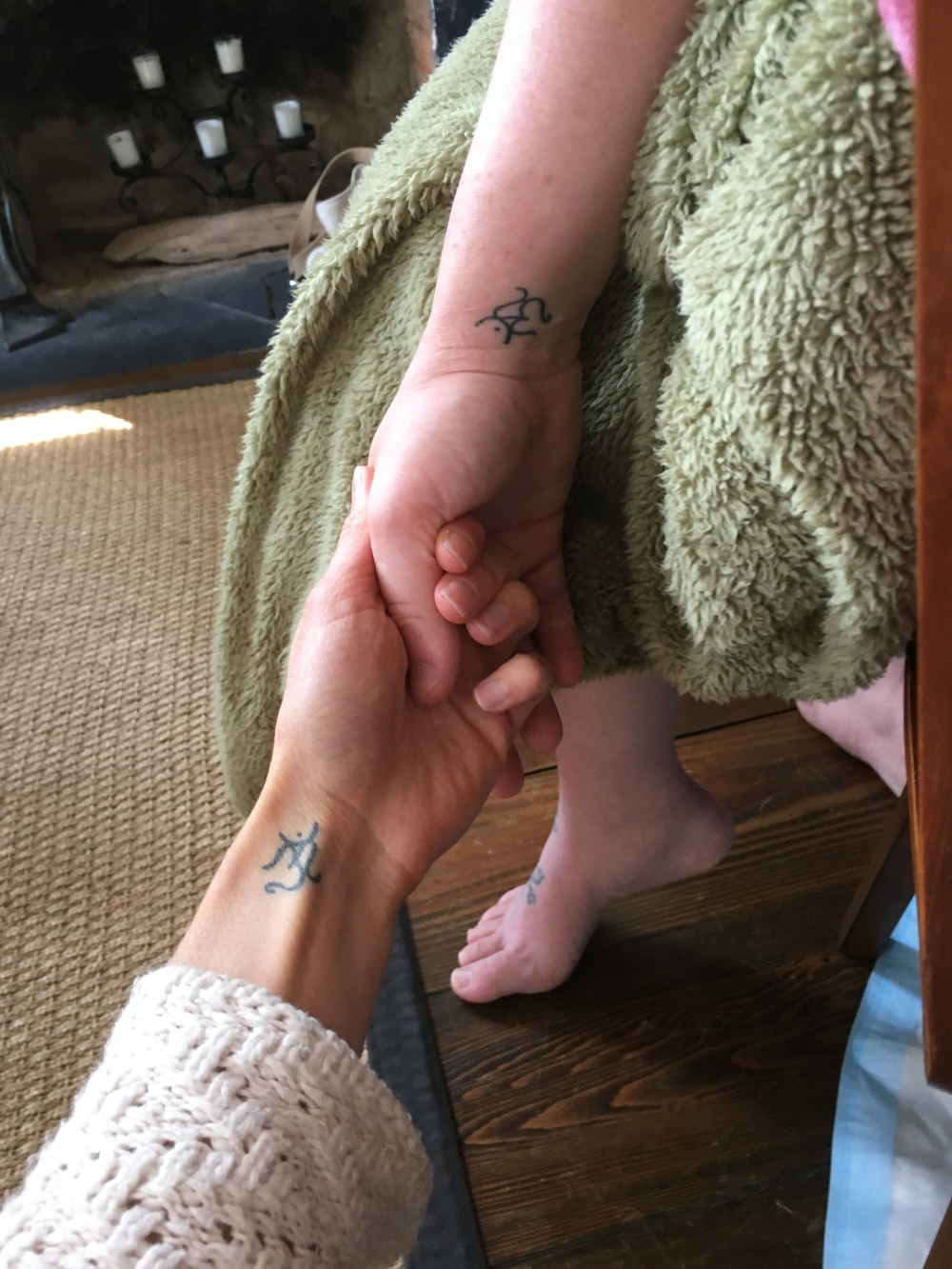 I love this! My girl Sharee holding my hand quietly on the side while I sat with Josh.