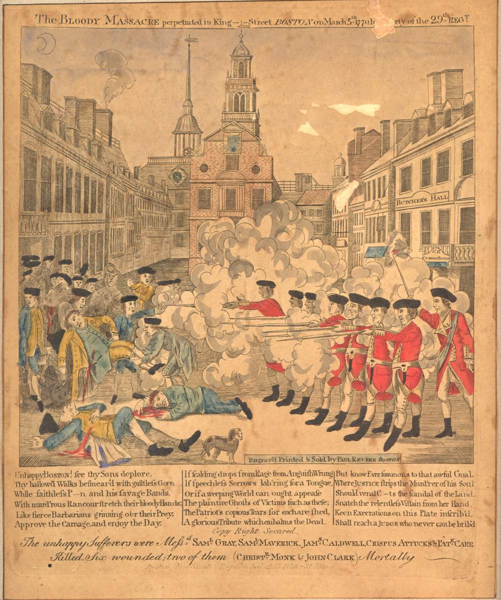 Paul Revere's Famous Print of the Boston Massacre