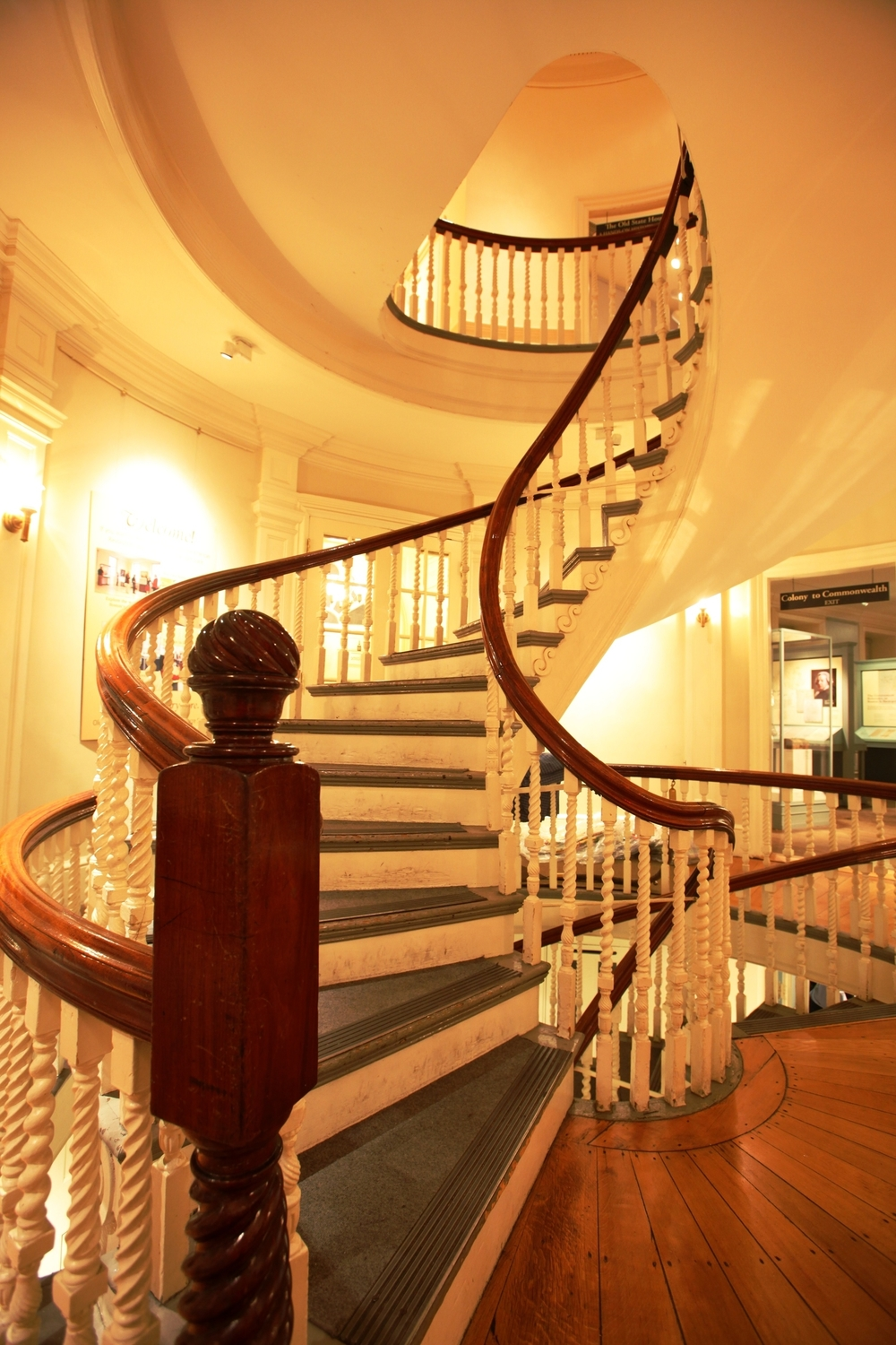 Spiral Staircase Inside Old State House