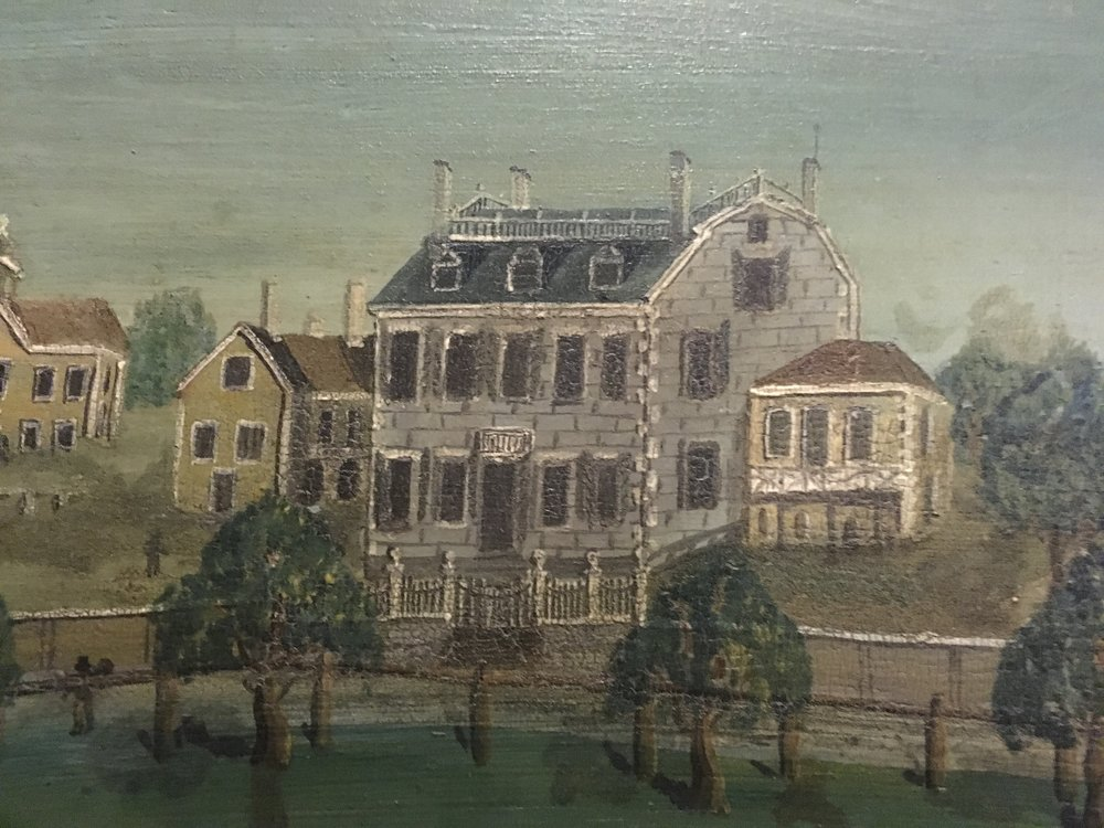 Detail from 1915.0013.001, a 1812 painting of the Park Street Church on Boston Common