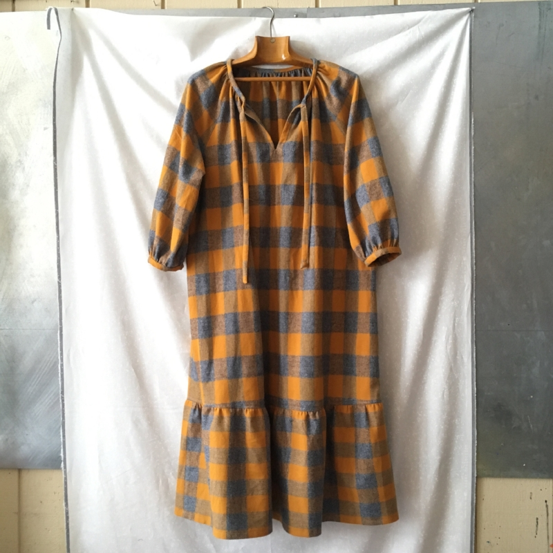 True Bias Roscoe dress in Mammoth Flannel