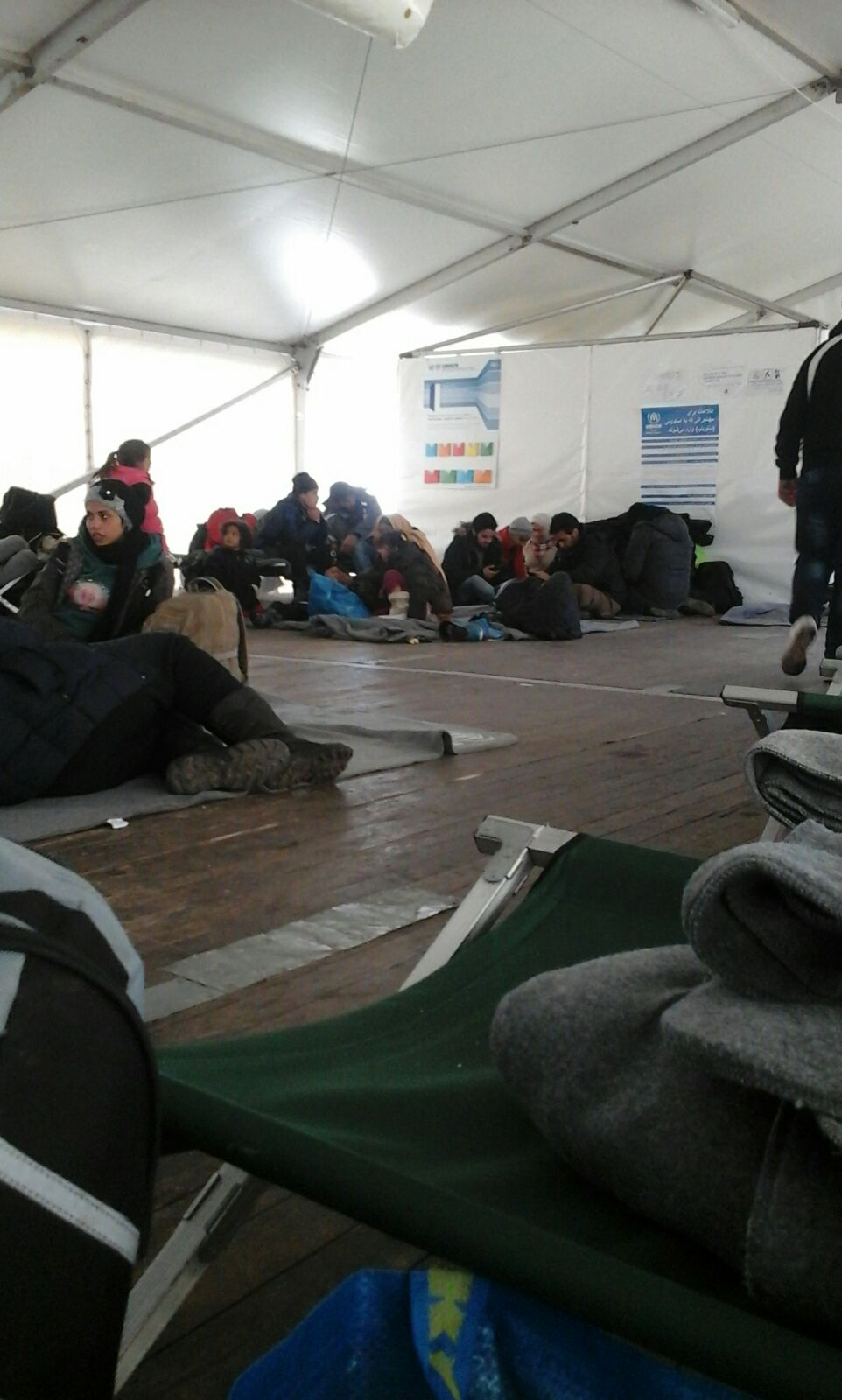 Resting area at refugee camp. Photo taken by Abdul.