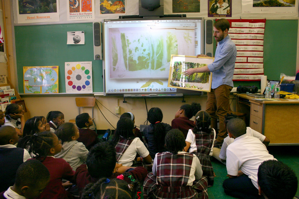 Author-illustrator visit at PS87X in the Bronx, New York.