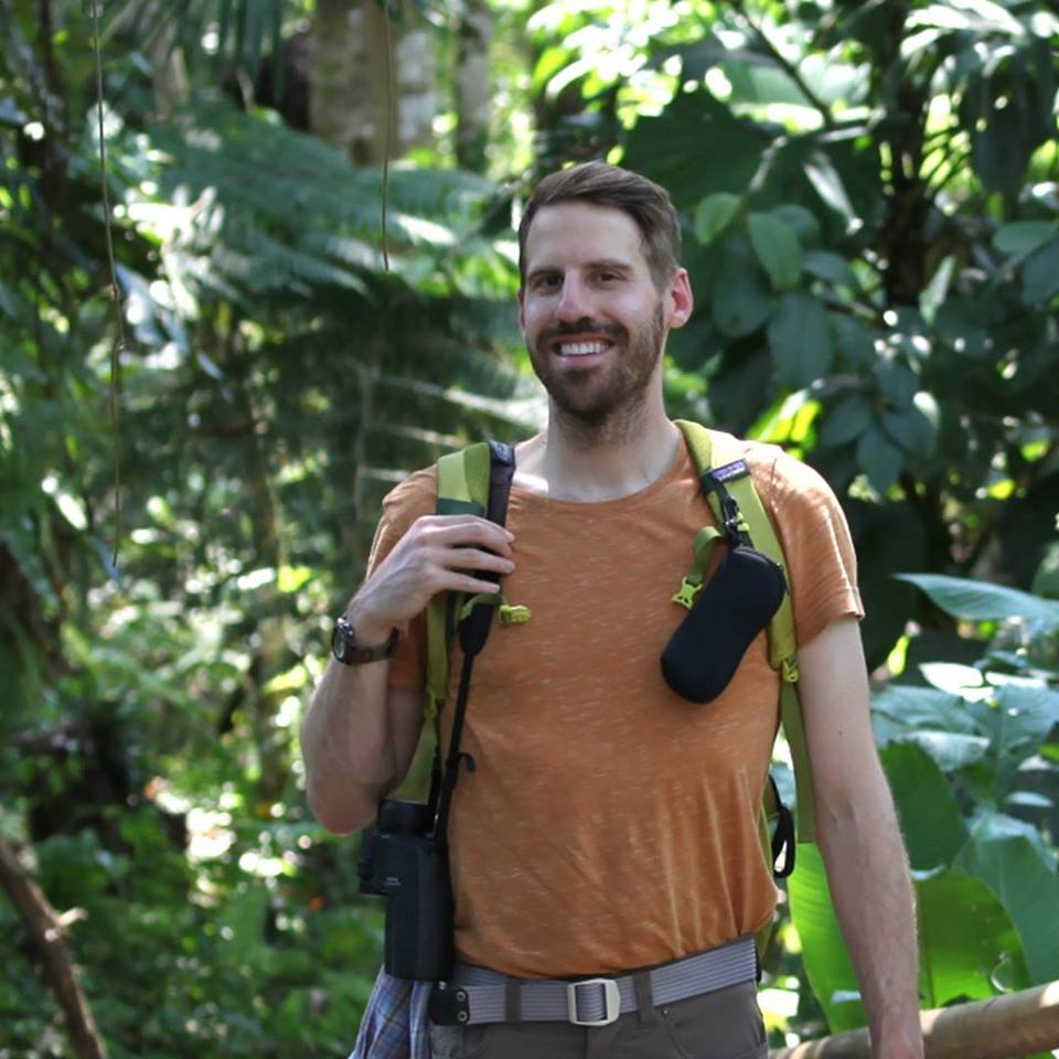 Eric Losh in the Andean-Amazon, Villa Carmen Biological Station, Manu Biosphere Reserve, Peru