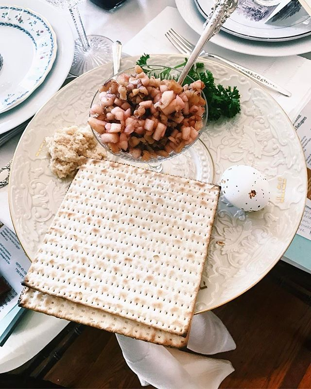 Matzah for breakfast! Happy Passover to all who are celebrating! Night 1 was wonderful, #bts on our story!