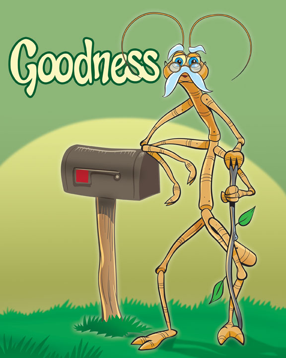 Meet Papsi!  A stick bug who demonstrates GOODNESS and teaches that doing good for others should be a lifestyle, even when wronged. He encourages his friends to do the right thing for the right reason and reminds them that God is the source of all that is truly good.
