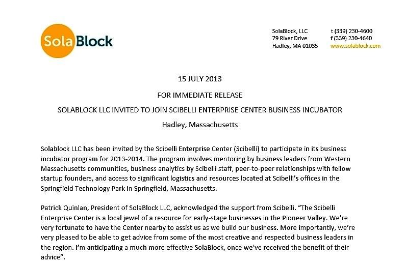 Scibelli Press Release
