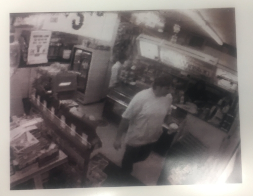 Casey at Gas Express on the morning of August 8, 1997.